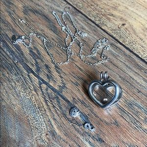 Authentic Pandora heart locket necklace